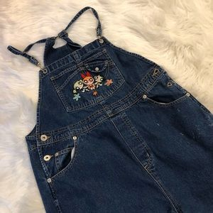 NWOT LF furst of a kind power puff girls overalls
